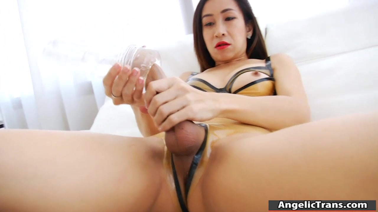 Asian Ladyboy Big Cock Solo